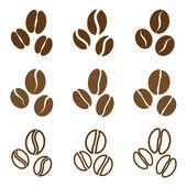 Vector collection: coffee beans — Stock Vector