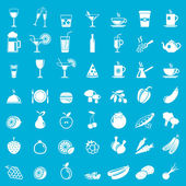 Vector collection: food icons — ストックベクタ