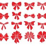 Vektor-Sammlung von roten Bögen auf weißem Hintergrund — Stockvektor  #42283059