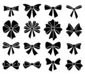 Vector collection of bows on white background — Stock Vector