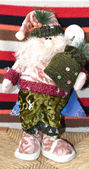 Christmas doll representing Santa Claus — Fotografia Stock