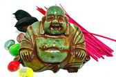 Green Buddha — Stock Photo