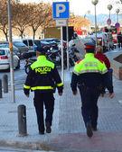 Police in Catalonia Spain — Stock Photo