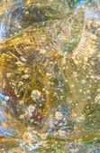 Bolle intrappolate nel pezzo di vetro di grandi dimensioni — Foto Stock