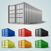 Vector shipping containers — Stock Vector