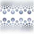 Rhythmic pattern of beads on a white background — Stock Photo