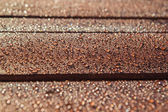 Water drops on wood — Stock Photo