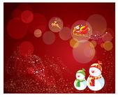Veselé vánoční pozadí karta a v zimě — Stock vektor