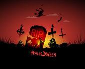 Happy hallowen card — Stock Vector