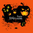 Stock Vector: Halloween grunge vector card or background