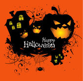 Halloween grunge vector card or background — Stock Vector