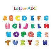 Sevimli ve renkli bir alfabe çizimi — Stok Vektör