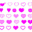 Valentine day doodle hearts — Stock Vector #33020353