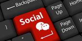 Concepto del negocio social — Vector de stock