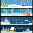 Set of christmas and new year banners — Stock Vector