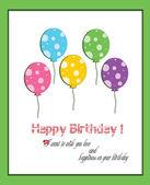 Happy birthday balloon five year old — Vettoriale Stock