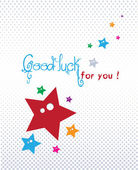 Good luck greeting card — Stock Vector
