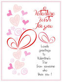 Happy valentine wish for you — Stock Vector