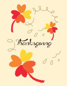 Thank's giving — Stock Vector