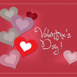 Valentine lovely with heart — Stockvector