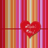 Valentine colourful heart card — Stock Vector