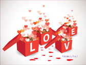 Valentine gift box — Stock Vector