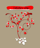 Valentine greeting hearts card — Stock Vector