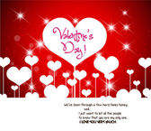 Valentine greeting hearts abstract background — Vecteur