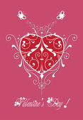 Valentine greeting hearts pattern abstract — Stock Vector
