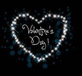 バレンタインの夜心カードの挨拶 — ストックベクタ