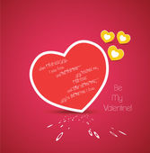 Valentine greetings with heart — Stockvector