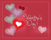 Bella san valentino con cuore — Vettoriale Stock