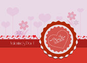 Valentine card flower — Stockvector
