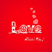 Love valentine typography — Stock vektor
