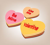 Valentine day be my sweet cake — Stock vektor