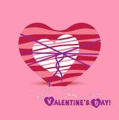 Día de san valentín corazones arco — Vector de stock