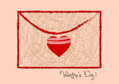 Valentine day letter hearts retro — Vetorial Stock