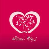 Valentine heart vecter pink background — 图库矢量图片