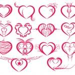 Set of symbol hearts — Stock Vector #38042985