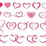 Set of symbol hearts — Stock Vector #38043171