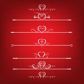 Set Valentine's Day Design Elements — Vetor de Stock