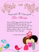 Letterhead valentines pink — Vector de stock
