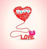 Tipografia de amor — Vetor de Stock