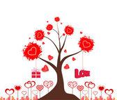 дерево любви валентина — Cтоковый вектор