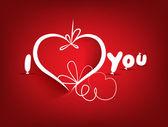 фон святого валентина и я люблю тебя — Cтоковый вектор