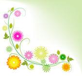 Sfondo astratto con fiori — Vettoriale Stock