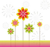 Abstract background with flowers — Stockvektor