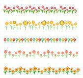 Bloemenlijst geïsoleerd op witte achtergrond — Stockvector