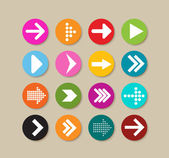 Collection Of Arrow Labels And Icons — Stock Vector