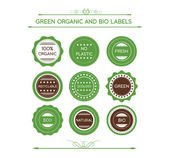 Collection Of Organic Labels And Icons — 图库矢量图片